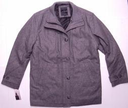 London Fog Men Antone Zip/Button Wool Fitted Car Jacket Coat