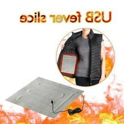 Men Electric USB Heated Vest Jacket Coat Warm Up Heating Pad