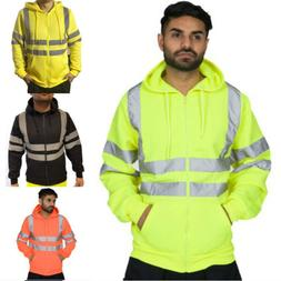 Men Hooded Jacket Sweatshirt Jumper PullOver Zipper Fleece H