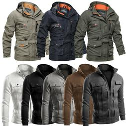 Men Military Jacket Tactical Combat Army Coat Casual Zip Up