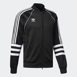 Men Adidas Originals Authentic Track Jacket Black/White  DJ2