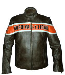 Men Real Cowhide HD Harley Davidson Victory Lane Motorcycle