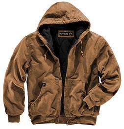 DRI Duck Men's 5020 Cheyenne Hooded Work Jacket, Charcoal, 5