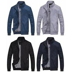 Men's Active Casual Lightweight Softshell Zipper Bomber Jack