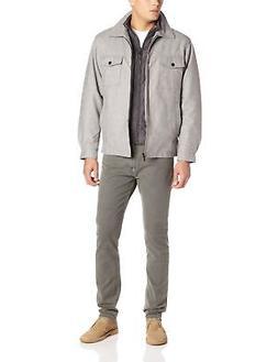 London Fog Men's Ashland Hipster Jacket with Quilted Bib, Lt
