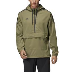 Adidas Men's Athletics Sport ID Woven Anorak Khaki/Black Jac