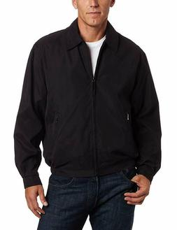 London Fog Men's Auburn Zip-Front Golf Jacket, Black, Large