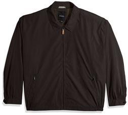 London Fog Men's Auburn Zip-Front Golf Jacket Brown Espresso