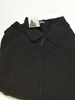 London Fog Men's Auburn Zip-Front Golf Jacket , Black, X-Lar