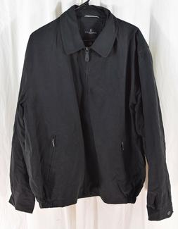 London Fog Men's Auburn Zip-Front Golf Jacket Black Size Lar