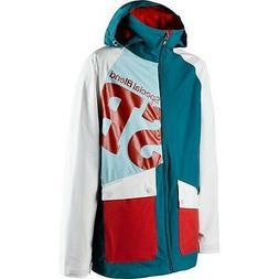 SPECIAL BLEND Men's BEACON Snow Jacket - Teal Bag - Size XLa