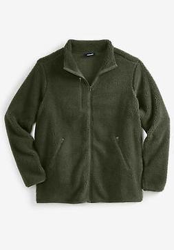 KingSize Men's Big & Tall Zip-Front Sherpa Jacket