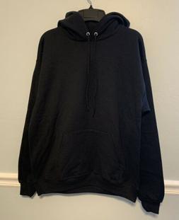 Men's Black Hanes Warm Soft Fleece Lined Sweater Jacket Hood