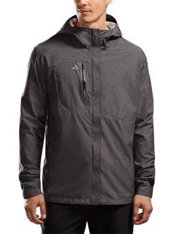 men s black waterproof hooded lightweight rain