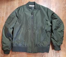 men s bomber jacket medium olive nowt