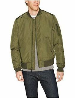 Goodthreads Men's Bomber Jacket Olive Large Satin-Finished B
