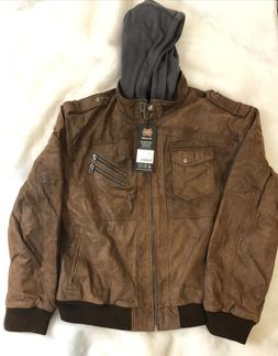men s brown leather motorcycle jacket
