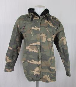 Dickies Men's Camo Canvas Hooded Shirt Jacket Sizes  L Men's