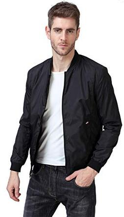 YIDI Men's Casual Classic Slim Bike Motorcycle Coat Outwear