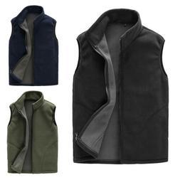Men's Casual Fall Winter Vest Sleeveless Warm Outwear Zipper