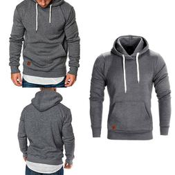 Men's Casual Hoodies Pullover Sweatshirts Winter Warm Hooded