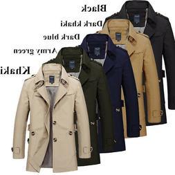 Men's Casual Jacket Spring/Autumn Zipper Windbreaker Slim Fi