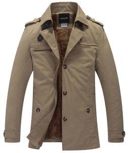 Wantdo Men's Casual Winter Thicken Jacket Khaki 1, Medium