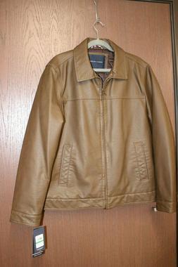 Tommy Hilfiger Men's Classic Faux Leather Jacket 157AU855 Mu