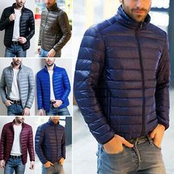 Men's Coat Down jacket Coat Solid Puffer Slim Fit Down jacke