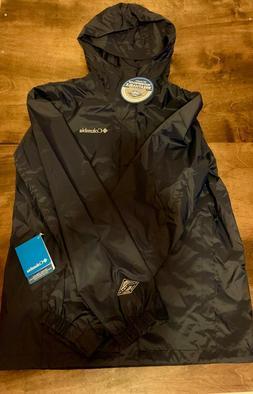Men's Columbia Rain Jacket Navy Blue with Omni Tech Waterpro