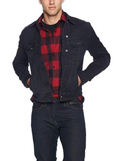 men s denim jacket black large
