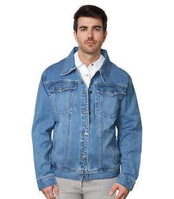 9 Crowns Men's Denim Trucker Blue Jean Jacket XL 2XL 3XL