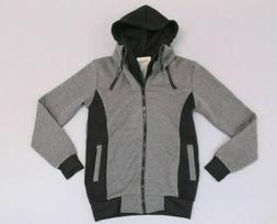 LocalMode Men's Double Zipper Hoodie Jacket TW4 Grey/Black S