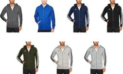 adidas Men's Essentials 3-Stripe Full Zip Fleece Hoodie, 7 C