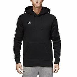 adidas Men's Essentials 3-Stripe Pullover Hoodie, Black/Whit