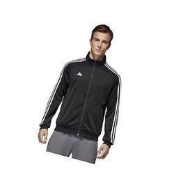 adidas Men's Essentials 3-Stripe Tricot Track Jacket Black/W