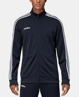 Adidas Men's Essentials 3 Stripe Tricot Track Jacket Black/W
