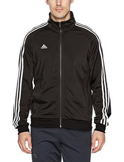 adidas Men's Essentials 3-Stripe Tricot Track Jacket, Black/