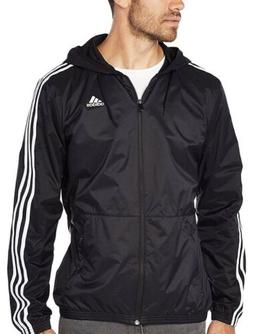 Adidas Men's Essentials 3-Stripes Wind Jacket Black/White BS