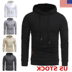 Men's Fashion Spring Hoodie Warm Hooded Sweatshirt Sweater C