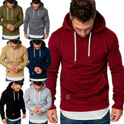 Men's Fashion Winter Hoodie Warm Hooded Sweatshirt Sweater C