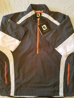 Men's FJ FootJoy 1/2 Zip Wind Rain Pullover Golf Short Sleev
