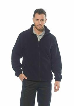Men's Fleece Full Zip Warm Polar Soft Polyester Jacket Navy&