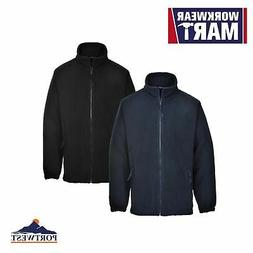 Men's Fleece Full Zip Warm Polar Soft Polyester Jacket Navy&