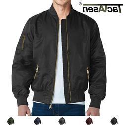 Men's Flight Bomber Jackets Vogue Baseball Coats Outerwear M