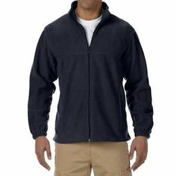 Men's Full Zip Fleece Jacket in Navy - 2XL