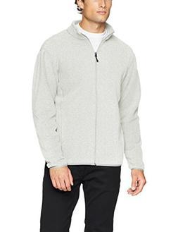 Amazon Essentials Men's Full-Zip Polar Fleece Jacket, Light