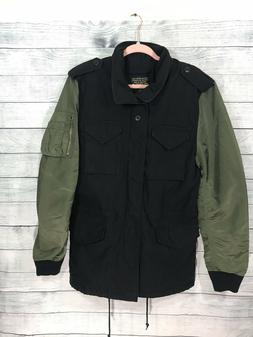 Alpha Industries Men's Fusion Field Coat Black Sage Small Ut