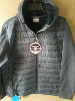 men s grey oyanta trail hybrid hooded