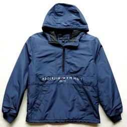 Tommy Hilfiger Men's Half Zip Padded Logo Anorak Jacket